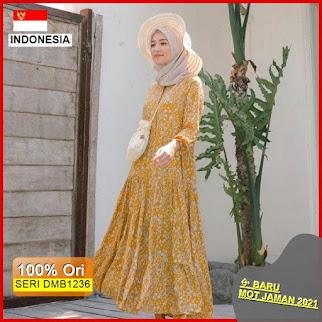 DMB1236 DRESS WANITA 1KG MUAT 4PCS CELLIA HOMEY DRESS RAYON BOHEMIAN MOTIF FLOWER BUNGA HITS SELEBGRAM BARU 2021