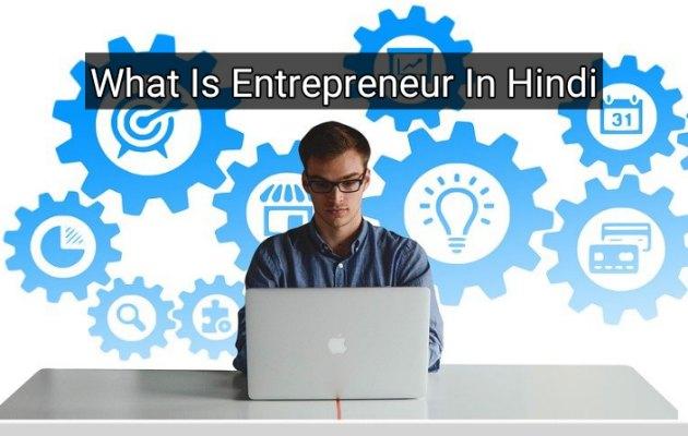 What Is Entrepreneur In Hindi