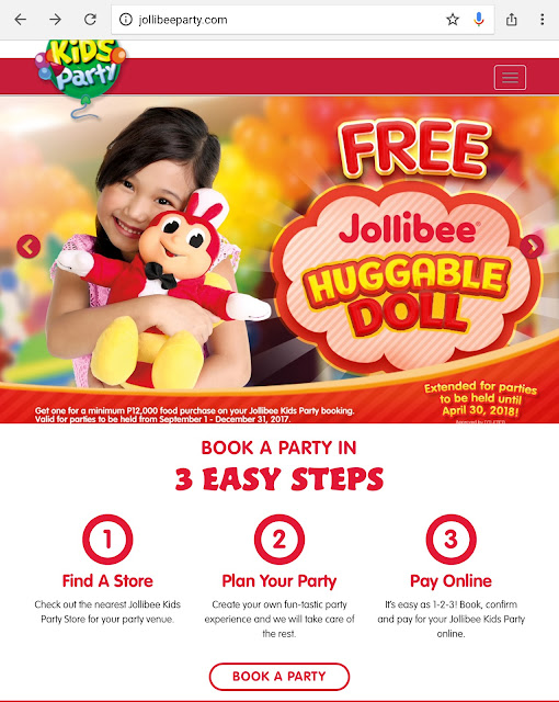 Book Your Party Online With Jollibee Online Party Booking