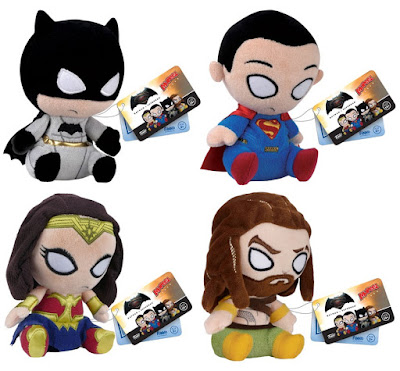 Batman v Superman: Dawn of Justice Mopeez Plush Series by Funko - Batman, Superman, Wonder Woman & Aquaman