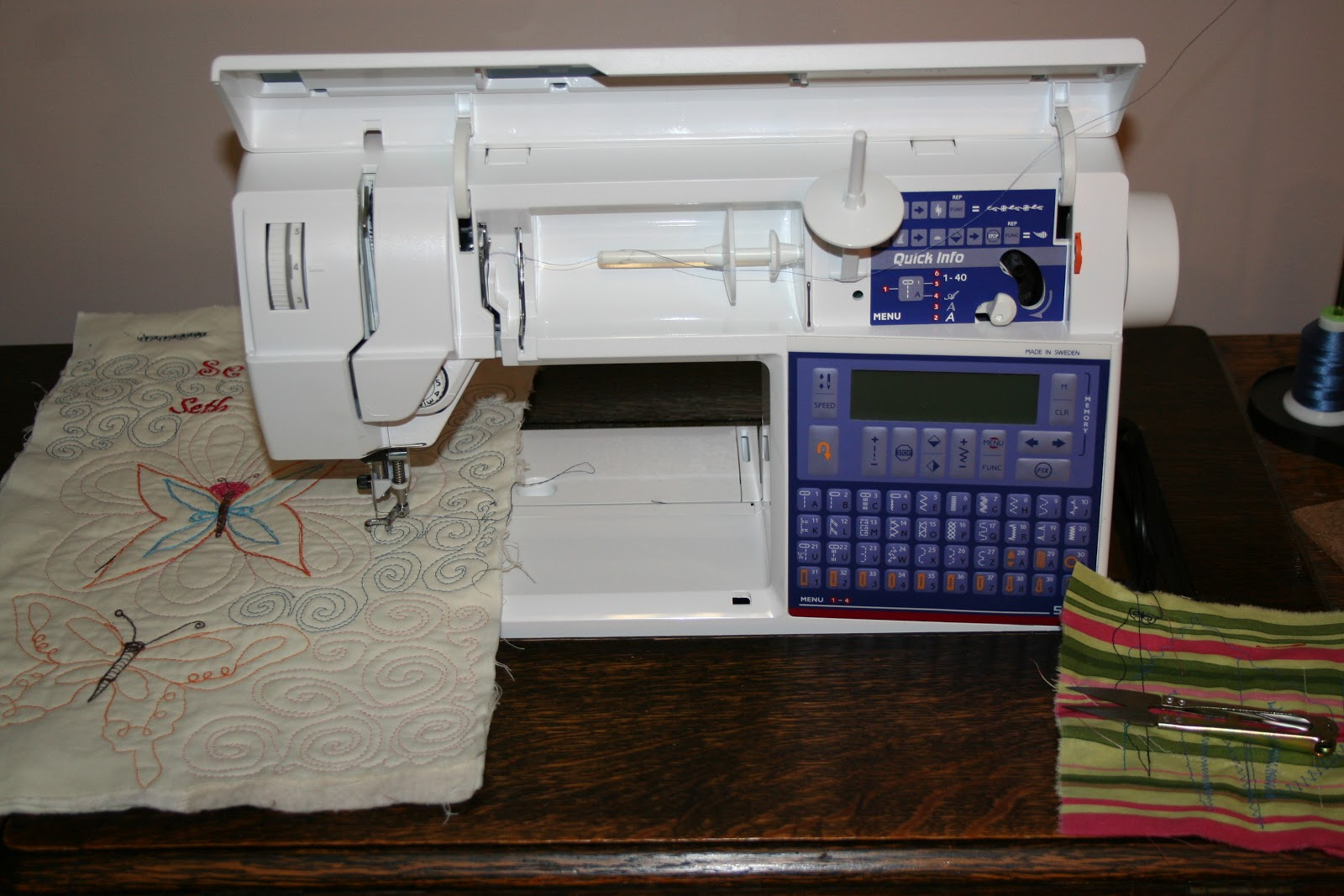 Lily is an excellent machine for free motion quilting.