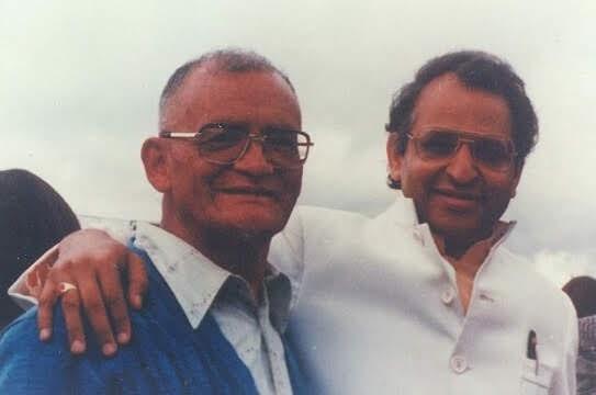 Padre Cesar Davila and Swami Veda Bharati