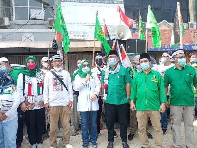 Peduli Palestina, PPP Kota Depok Gelar Aksi  Solidaritas