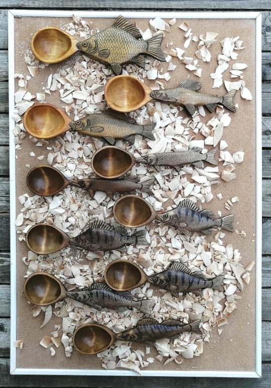 Деревянные ложки для рыбацкой ухи