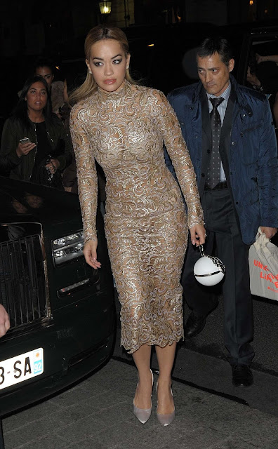 Actress, Singer, @ Rita Ora - Arriving at the Ralph & Russo After Party in Paris