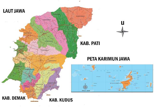 Gambar Peta Kenampakan alam Kabupaten Jepara