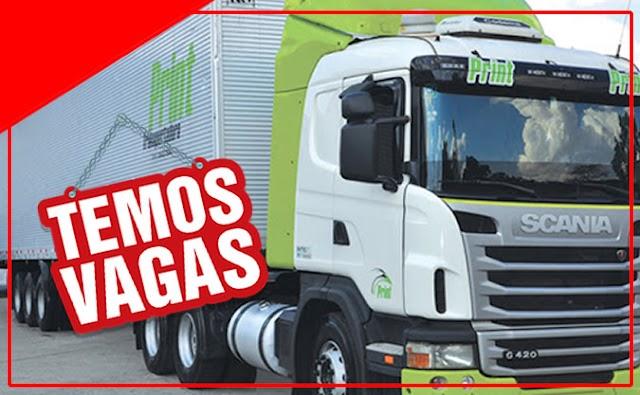 Transportadora Print abre 151 vagas para Motorista Carreteiro