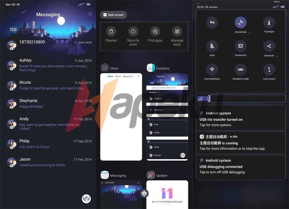 Screenshot theme DNCK Woek v11 untuk Xiaomi