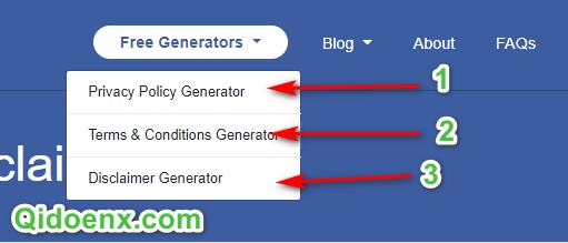 Buat Generator Lainnya Di Menu paling atas