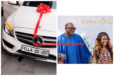Medikal Surprises Fella Makafui With A New Mercedes Benz C-300 (Watch Video)