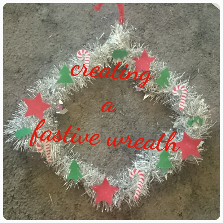 creating a festive wreath