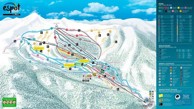 Mapa de pistas de Espot