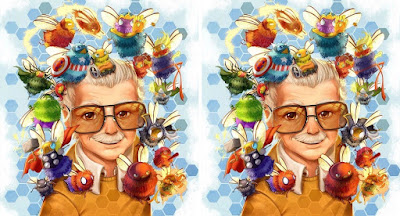 "San Diego Comic-Con 2019 Exclusive ""Stan Bee"" Stan Lee Commemorative Print by Camilla d'Errico"