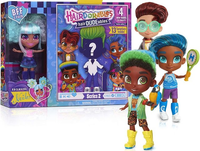 New HairDUDEables Boy Characters 2020: Hairdorables BFF Pack Series 2