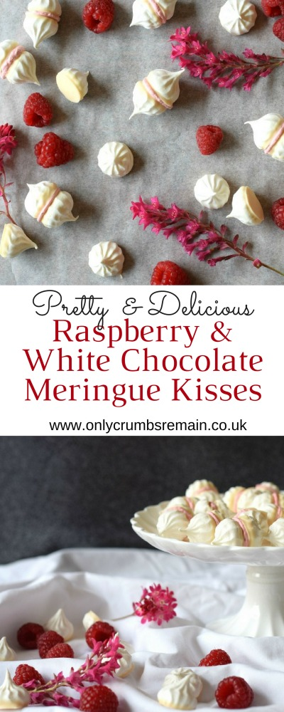 Raspberry & White Chocolate Meringue Kisses recipe, perfect for a summer party.