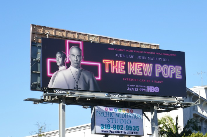 New Pope TV series billboard