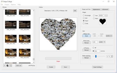 Cara Gampang Membuat Kolase Collage Foto Bentuk Unik Bulan Sabit