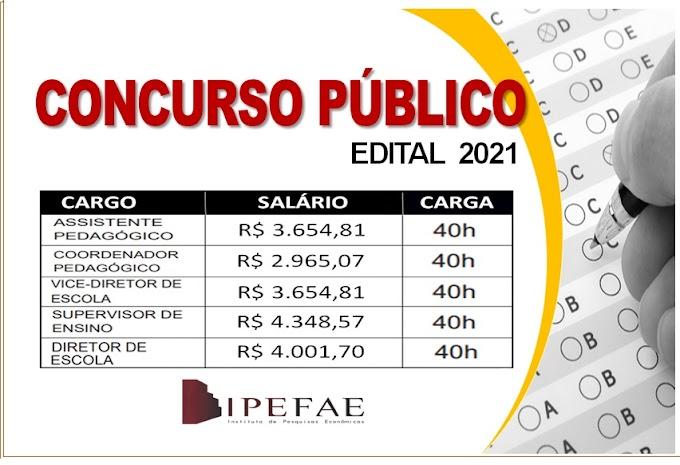 Aberto Concurso Público na área da educação com salários até R$ 4.348,57. Saiba Mais
