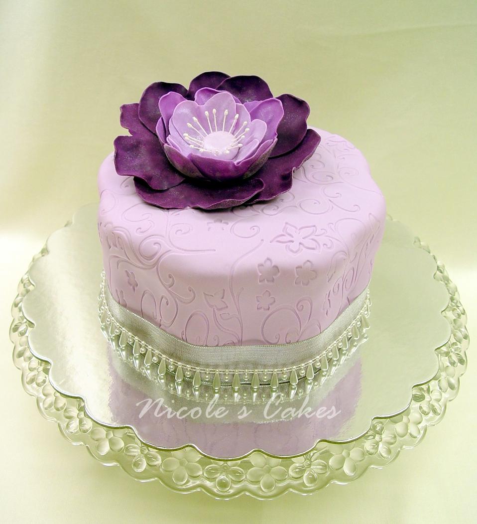 Confections Cakes Creations Precious Purple Flower Cake