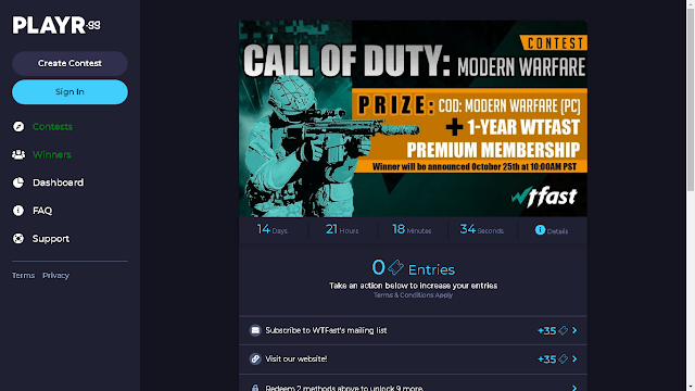 Win Call of Duty Modern Warfare + 1 Year WTFast Premium Subscription • WTFast Giveaway