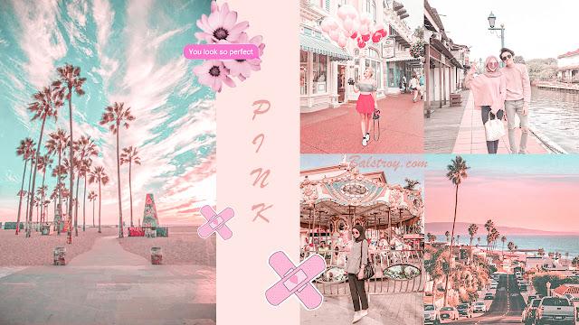 aqua pink dan pink pastel