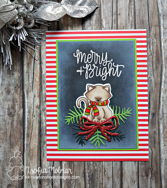 Merry + Bright by Zsofia features Sentiments of the Season and Newton's Holiday Mischief by Newton's Nook Designs; #newtonsnook