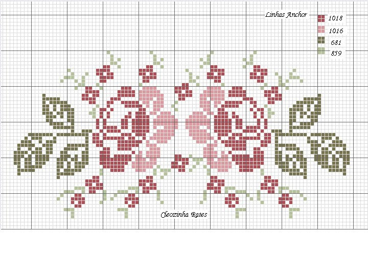 46d7cef2e9 Grafico De Letras Com Flores Em Ponto Cruz - pontocruzandreia
