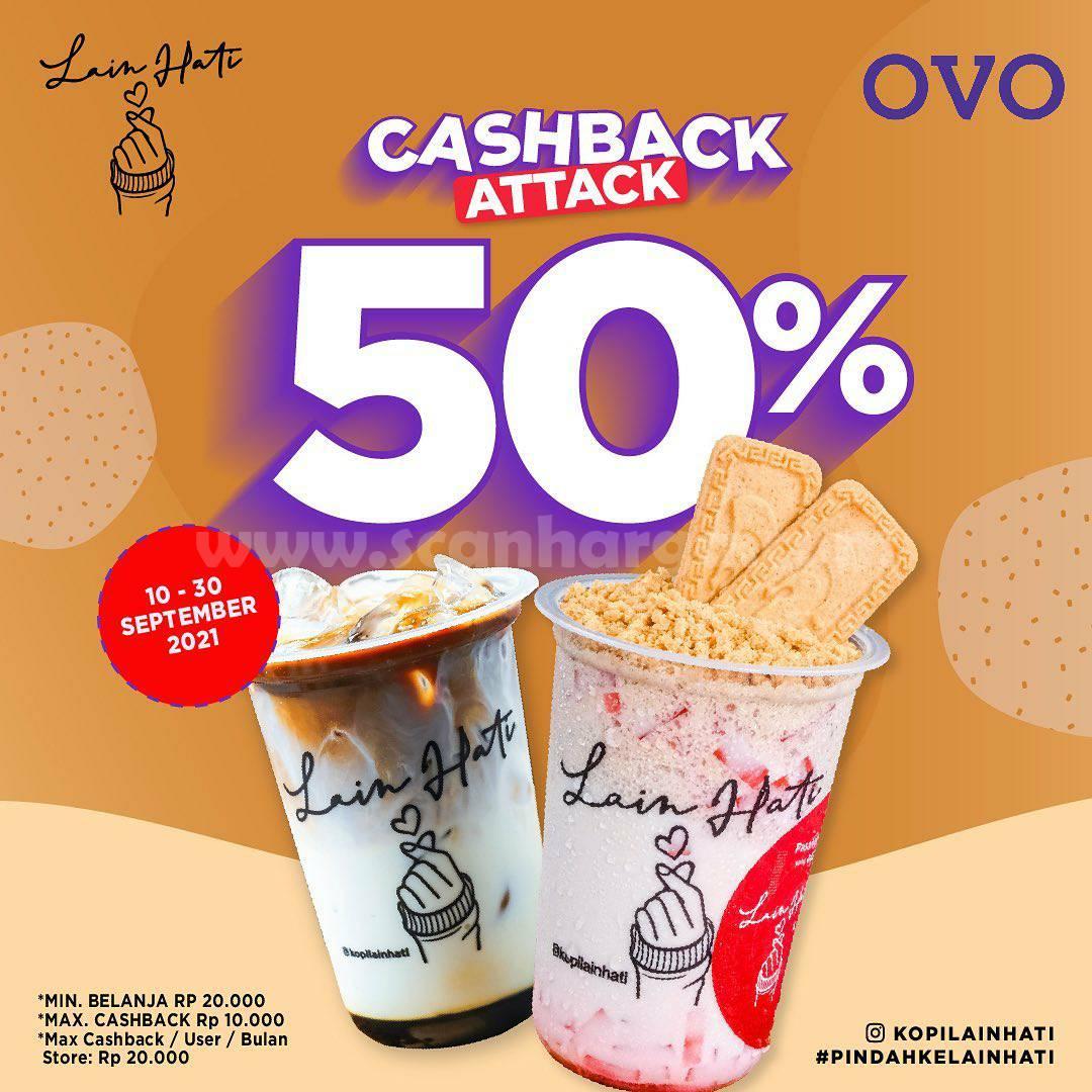 KOPI LAIN HATI Promo Cashback 50% pakai OVO