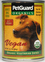 Picture of Petguard Organic Vegetarian Vegan Entree Canned Dog Food