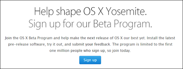 Apple Mac OS X (10.10) Yosemite Beta 1 (step 1)