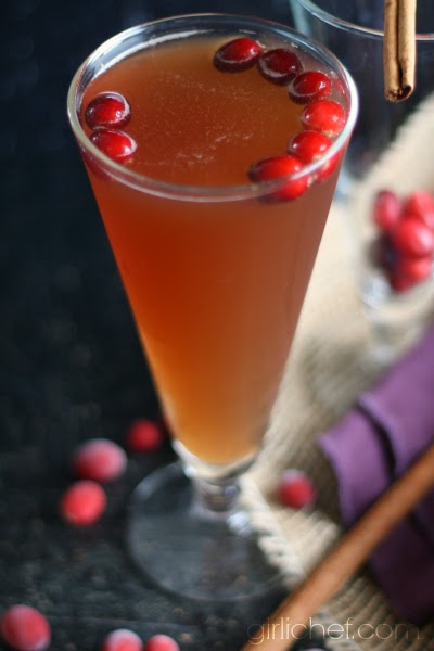 Cranberry Spiced Rum Fizz by Girli Chef