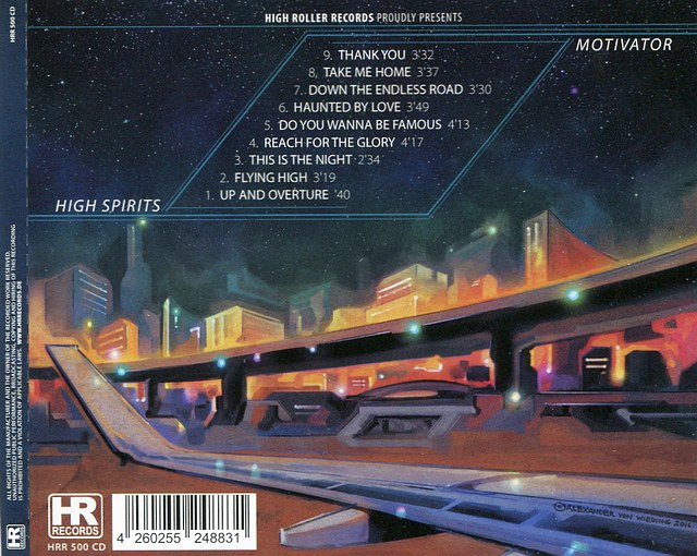 HIGH SPIRITS - Motivator (2016) Full retail - back