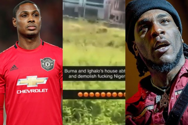 Hoodlums Break Into Ighalo And Burna Boy's House In Nigeria, Threaten To Set It On Fire (Video)