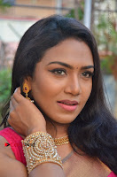 Actress Risha Pos in Pink Silk Saree at Saravanan Irukka Bayamaen Tamil Movie Press Meet  0001.jpg