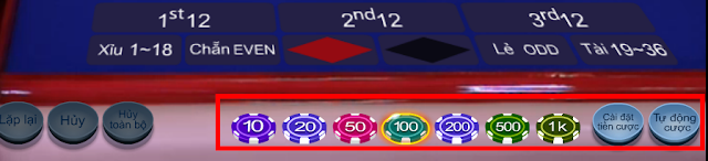 chơi roulette tại thiên hạ bet