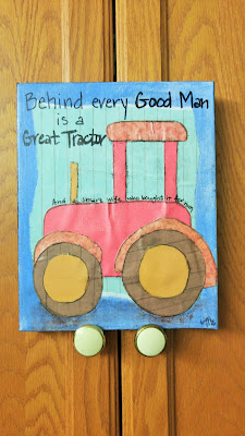 "Girls Night Out with Kelly Gau Studio - ""Behind every Good Man is a Great Tractor: And a smart wife who bought it for him."""