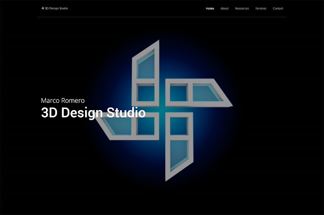 Marco Romero 3D Design Studio website