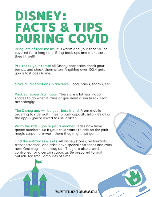 Disney Covid Tips & Facts