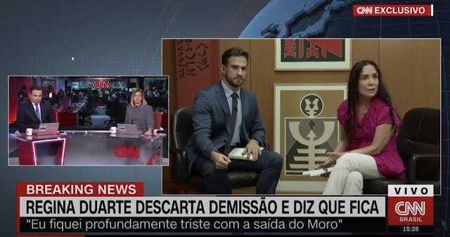 Regina Duarte dá 'chilique' em entrevista a CNN