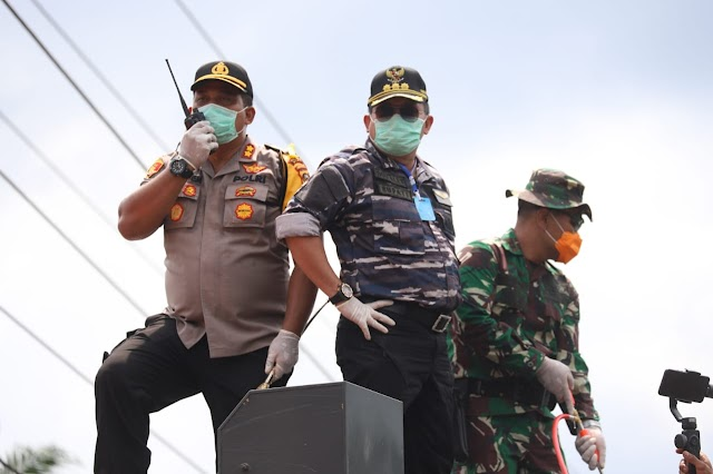 Libatkan Penjahit lokal, Bupati Muba Siapkan 10 Ribu Masker Gratis