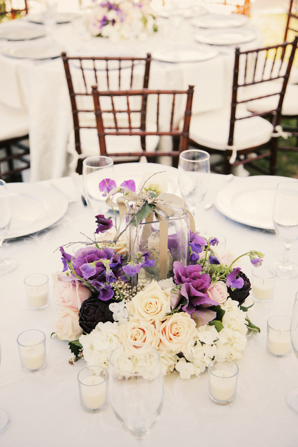 Rustic+classic+traditional+black+tie+platinum+wedding+bride+groom+rowing+country+club+purple+modern+succulents+succulent+centerpieces+lighting+lights+Gideon+Photography+12 - Black Tie & Cowboy Boots Required