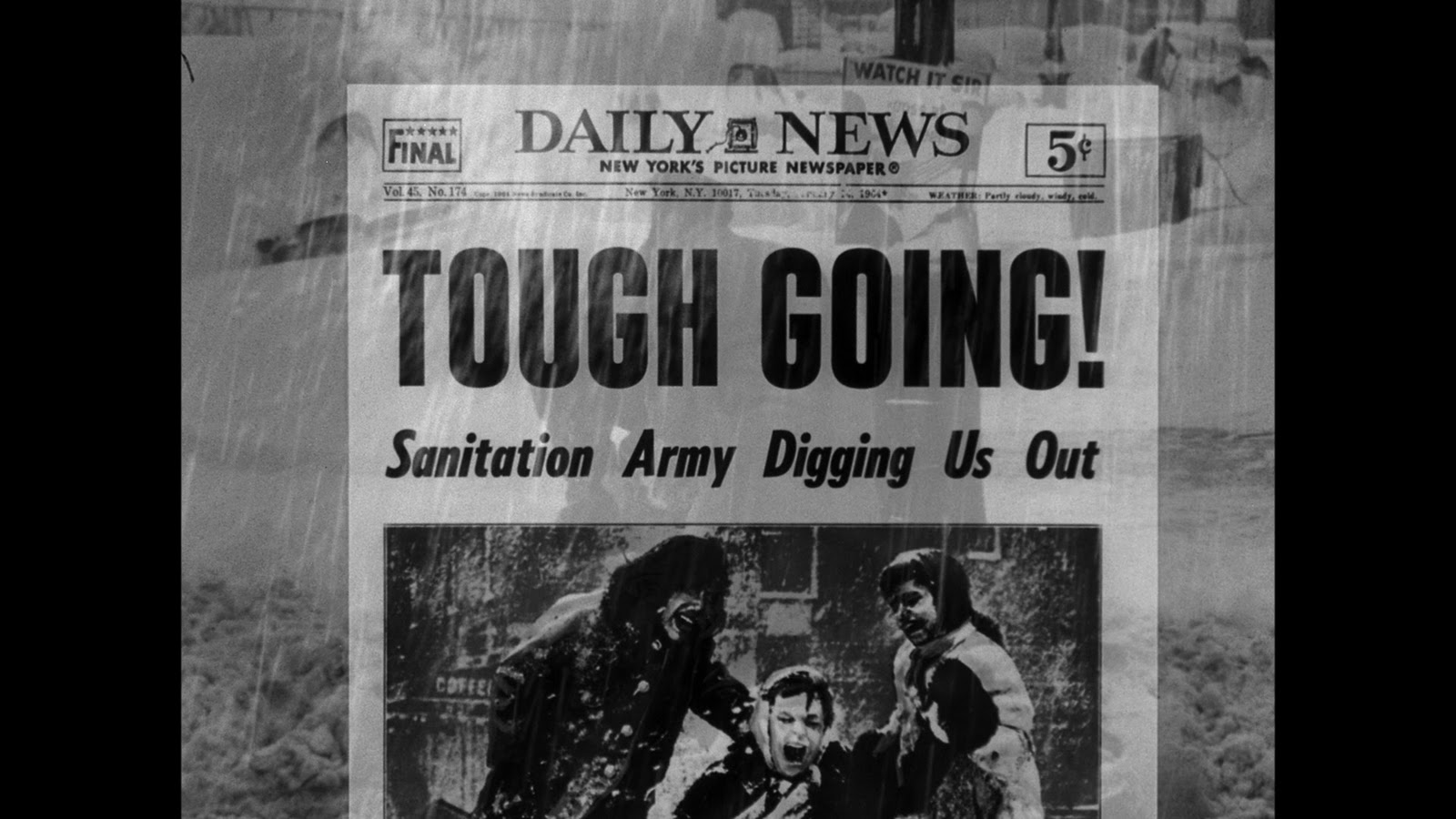 3a12623e9a6 Newspaper relaying the seriousness of the blizzard. Why a newspaper  headline  Papers are like the secular