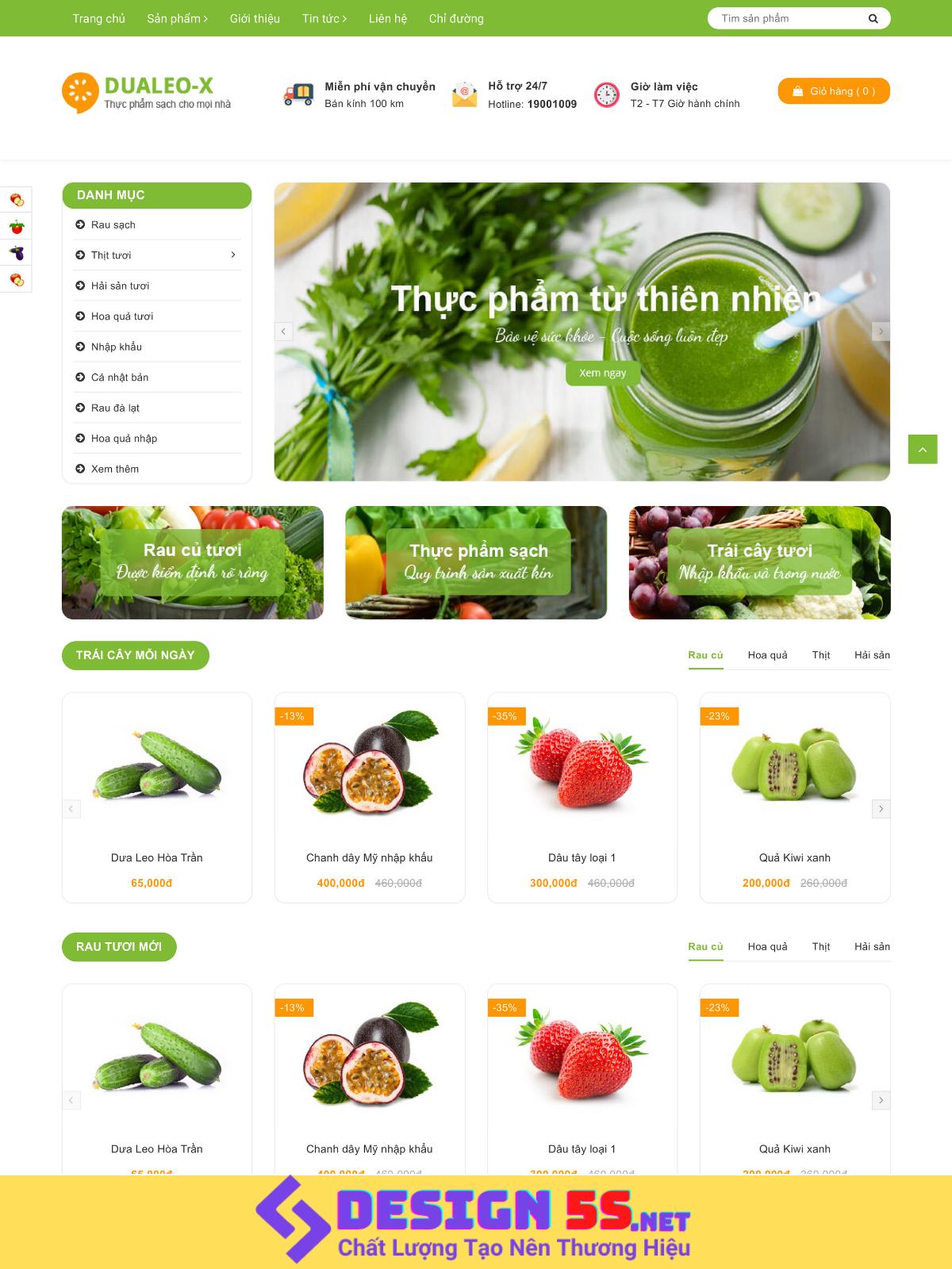 Theme blogspot bán hàng trái cây rau quả tươi mát, VSM20