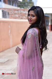 Telugu Actress Shalu Chourasiya Stills in Cute Pink Saree at Pochampally IKAT Art Mela  0011.jpg