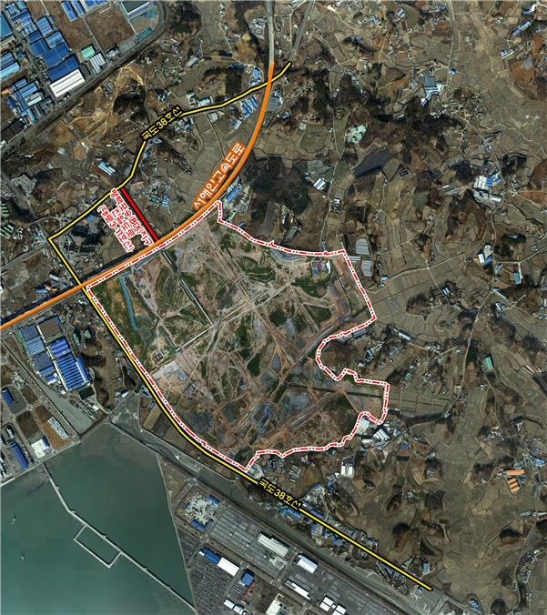 평택 포승(BIX)지구 진입도로 0.458km 공사 시작