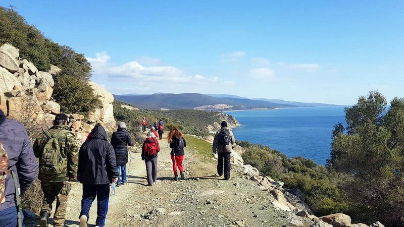 Πεζοπορική διαδρομή του Δρομέα Θράκης στην περιοχή της Μαρώνειας - Πετρωτών