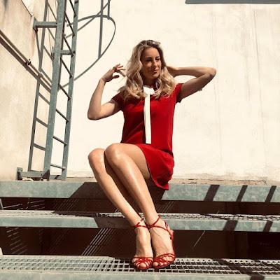 mia Ceran foto vestito rosso Quelli che il Calcio 14 marzo