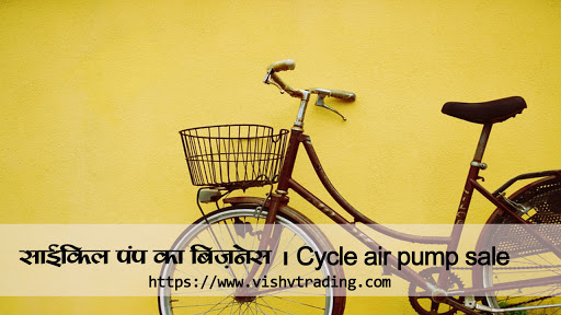 Hand air pump for cycle