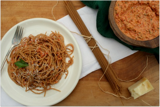 Roasted Red Pepper and Walnut Pesto