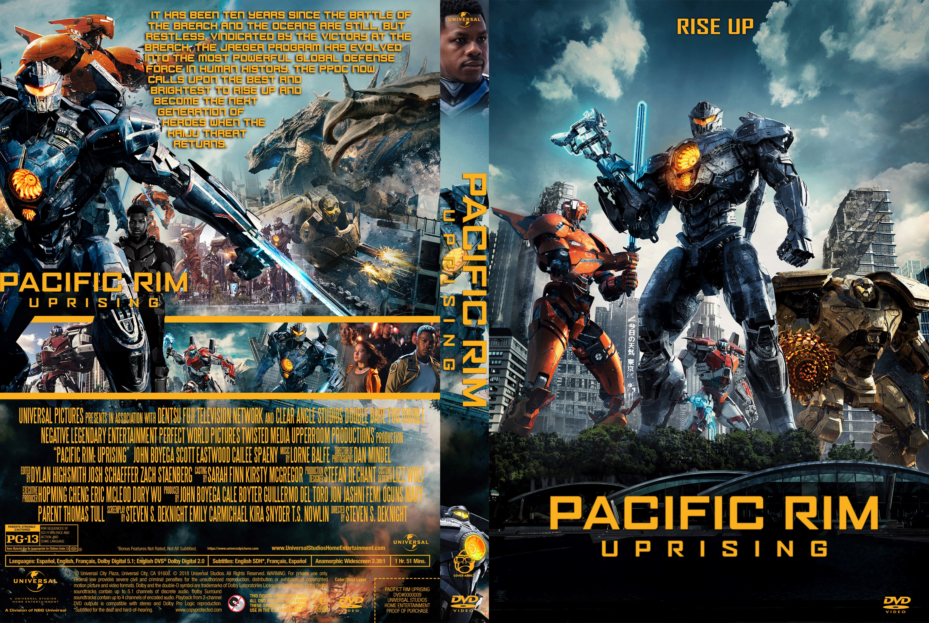 Pacific Rim Uprising DVD Cover - Cover Addict - DVD and ... Pacific Rim Cover